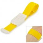 Convenient Nylon Compression Cord Tourniquet w/ Buckle - Yellow