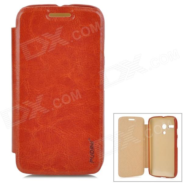 PUDINI WB-MOTOG Flip-Open PU Leather Case for Motorola MOTO G - Brown