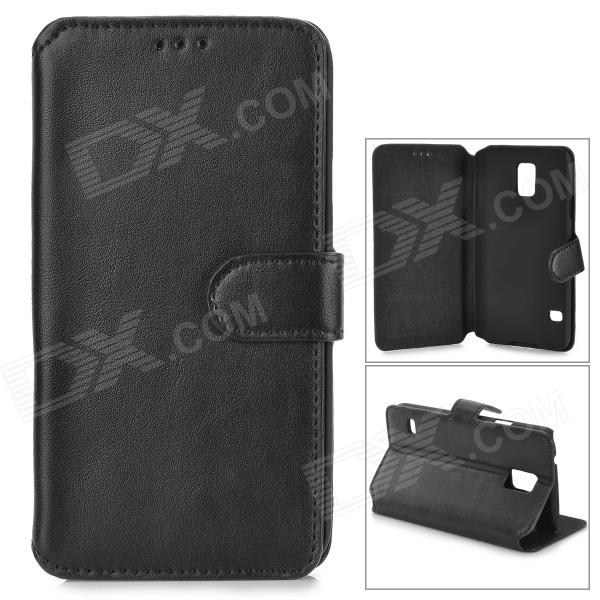 Protective Flip Open PU Leather Case w/ Stand / Card Slots for Samsung S5 i9600 - Black protective flip open pu case w stand card slots for samsung galaxy s3 mini i8190