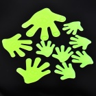 LX-03093 DIY Hand Style Glow-in-the-dark ABS Wall Sticker - Green