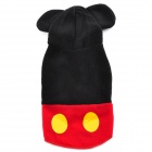 Cute Fleece Pet Dog / Cat Coat - Black + Red (M)