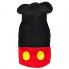 Cute Fleece Pet Dog / Cat Coat - Black + Red (S)