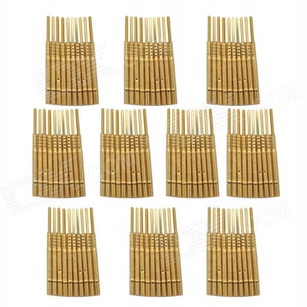 LSON Gold Plating Brass Probe Sleeve - Golden (100 PCS)