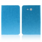 ENKAY 3-Fold Protective PU Leather Case for Samsung Galaxy Tab 3 Lite T110 - Light Blue