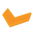 L-5-1 DIY Replacement Plastic 90' Angled Bar for Model Vehicle - Yellow (5 PCS)