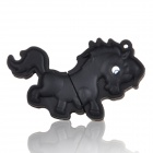 Cute Cartoon Horse Style USB 2.0 Flash Driver Disk - Black (4GB)