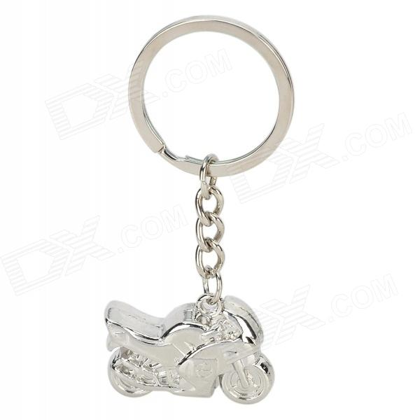 CAFF Cute Motorcycle Style Pendant Alloy Key Chain - Silver