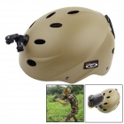 OUMILY Outdoor Paratrooper Helmet w/ Mounting Bracket for GoPro & Sony Camera - Khaki