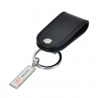 RIMEI B8845 Convenient PU + Stainless Steel Belt Key Ring - Black + Silver