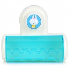 Convenient Suction Cup Plastic Toothbrush Holder - White + Dark Green