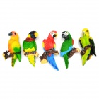 FUNI CT-6686 Cute Parrot Style Magnetic Sticker - Grass Green + Black (5 PCS)