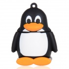 Cute Cartoon Penguin Style USB 2.0 Flash Drive Disk - Black + White + Yellowish Orange (16GB)