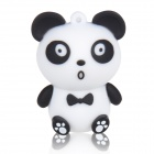 Cute Cartoon Panda Style USB 2.0 Flash Drive Disk - White + Black (16GB)