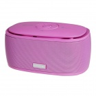 A06 Bluetooth 3.0  Wireless Portable Bass Stereo Speaker w/ TF Reader - Pink