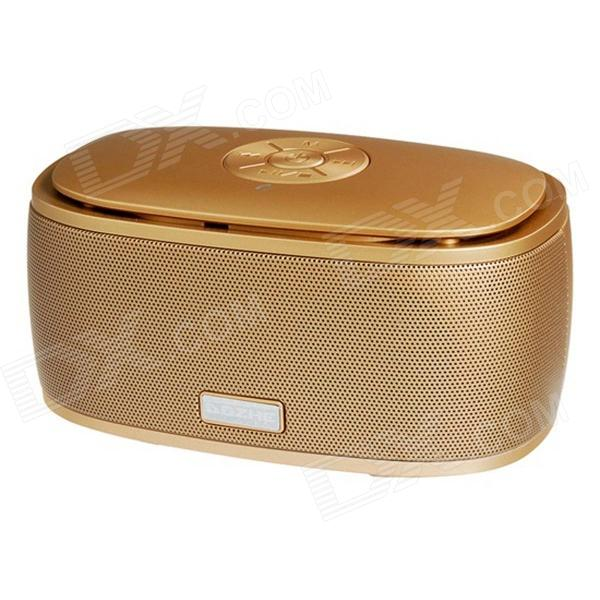 A06 Bluetooth 3.0 Wireless Portable Bass Stereo Speaker w/ TF - Gold bv200 portable wireless bluetooth speaker outdoor pocket stereo speaker
