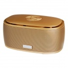 A06 Bluetooth 3.0 Wireless Portable Bass Stereo Speaker w/ TF - Gold