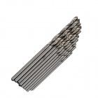 0.6~1.5mm Common Twist Drill Auger Bit Set for PCB Drilling - Silver (10 PCS)
