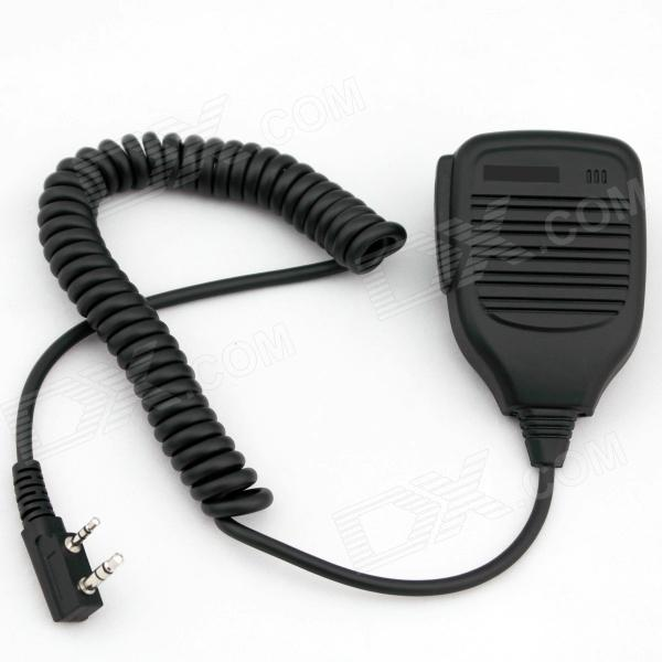 K-21 3.5mm + 2.5mm Walkie Talkie Handheld Microphone for Kenwood BAOFENG - Black handheld microphone for motorola walkie talkie red