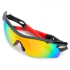 NUCKILY PA01 Outdoor Cycling Polarized Sunglasses Goggles - Yellow + Black + Red