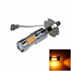 H3 7.5W 400lm 5 COB LED Yellow Light Polaridade Free Car Foglight / Farol / Luz Traseira (12 ~ 24V)