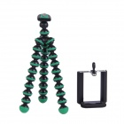 "2-in-1 6.5"" Octopus Tripod for Digital Camera / Phone - Black + Green"