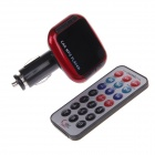 "C&Q C&Q-819B 1.2"" LED Screen Wireless FM Modulator Car MP3 Player w/ Remote Control - Black + Red"