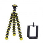 "2-in-1 6.5"" Octopus Tripod for Digital Camera / Phone - Black + Yellow"