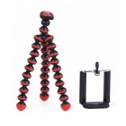"2-in-1 6.5"" Octopus Tripod for Digital Camera / Phone - Black + Red"