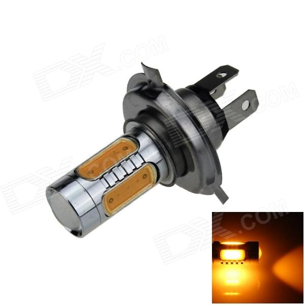 H4 7.5W 400lm 5-COB LED Yellow Light Car Foglight / Headlamp / Tail Light (12~24V)