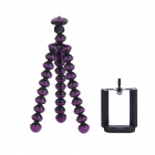 "2-in-1 6.5"" Octopus Tripod for Digital Camera / Phone - Black + Purple"