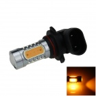 9006 / HB4 7.5W 400lm 5-LED Yellow Polarity Free Car Foglight / Headlamp / Tail Light (12~24V)
