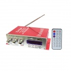Kinrener HY502 160W 2-CH Hi-Fi Amplifier MP3 Player w/ FM / SD / USB for Car / Motorcycle - Red