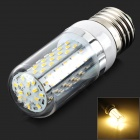 E27 6W 450LM 3000K Warm White 120-3104 SMD LED Corn Lamp - White + Silver