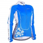 NUCKILY GC001 Cycling Women's Polyester Long Jersey Clothes - Blue (Size XXL)