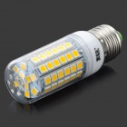 JRLED E27 8W 390LM 3300K Warm White 69-5050 SMD LED Mais-Lampe - Weiß + Silber