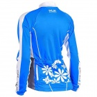 NUCKILY GC001 Cycling Women's Polyester Long Jersey Clothes - Blue (Size M)