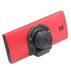 "H.264 2.7"" TFT CMOS Camera Wide Angle Car DVR w/ G-Sensor / 4-LED / HDMI - Red + Black"