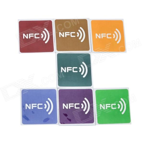 030904 Ntag203 Chip NFC Smart Label for Samsung N3 / S4 - Light Purple + Deep Purple + Yellow (7PCS) samsung download