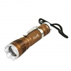 Holyfire A1 Cree XM-L T6 800lm 5-Mode White Zooming Flashlight - Brown + Green (1 x 18650)