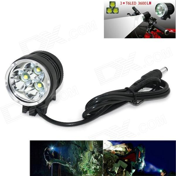 Marsing B31 2000lm 3-Mode White 3-LED Bike Light / Headlamp - Black (4 x 18650) marsing cree xm l u2 1000lm 3 mode cool white bike light headlamp black 4 x 18650
