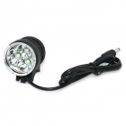 Marsing B31 2000lm 3-Mode White 3-LED Bike Light / Headlamp - Black (4 x 18650)