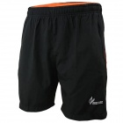 ARSUXEO AR008 Quick Drying Breathable Running Sports Short Pants - Black + Orange (Size XL)