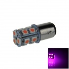 1157 / BAY15D 2W 200lm 13-SMD 5050 LED Pink Purple Car Backup / Brake Lamp / Signal Light (12V)