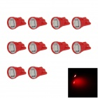 T10 / W5W 0.2W 20lm SMD 5050 LED Red Car Clearance Lamp / Side / Instrument Light (12V / 10 PCS)