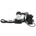 MARSING B30 LED 2400lm 4-Mode White Bicycle Light Headlamp - Black + Silver (4 x 18650)