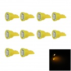 T10 / W5W 0.2W 20lm 5050 LED Yellow Car Clearance lamp / Side / Instrument Light (12V / 10 PCS)
