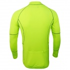 ARSUXEO 60017 Quick Drying Breathable Flexible Running Long-Sleeve Coat - Fluorescent Green (Size L)