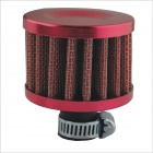 Universal Mushroom Head Style Motorcycle Air Filter - Red