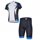 CHEJI QH-01 Outdoor Cycling Short Jersey Clothes Suit - Blue + Black (Size XXL)