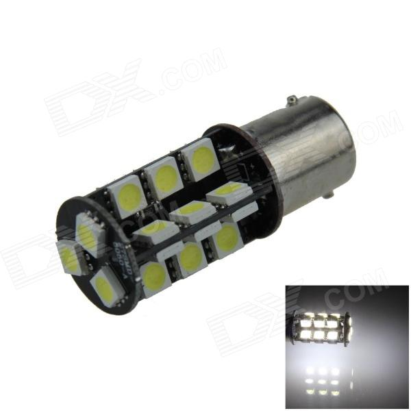Canbus Error Free BA15S / 1156 6W 540lm 27-SMD 5050 LED White Car Signal Light / Steering Lamp (12V)